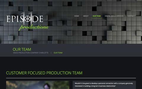 Screenshot of Team Page episode11productions.com - Your Video Production Team in Charlotte, NC - captured Nov. 9, 2016