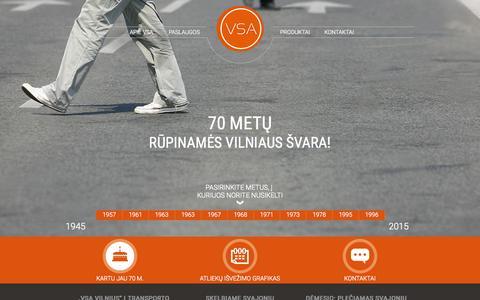 Screenshot of Home Page vsa.lt - Pakalbėkime apie atliekas - VSA Vilnius - captured Aug. 17, 2015