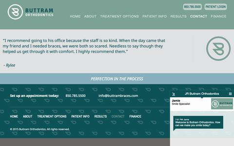 Screenshot of Contact Page buttramsbraces.com - Contact Us   Panama City, FL Orthodontist   Buttram Orthodontics - captured Dec. 19, 2018