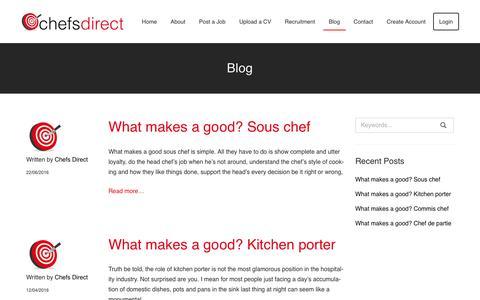 Screenshot of Blog chefs-direct.com - Chef Blog | Chefs Direct - captured Nov. 5, 2016