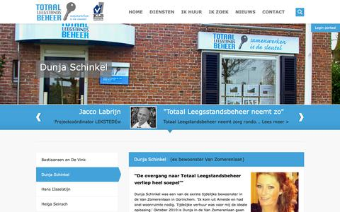 Screenshot of Testimonials Page totaal-leegstandsbeheer.nl - Totaal LeegstandsbeheerDunja Schinkel - Totaal Leegstandsbeheer - captured Oct. 20, 2018