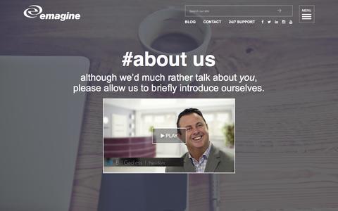 Screenshot of About Page emagine.com - About emagine B2B & Healthcare Digital Marketing Agency | emagine - captured Dec. 9, 2015