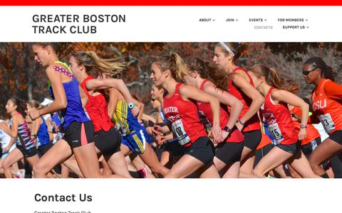 Screenshot of Contact Page gbtc.org - Contact Us – Greater Boston Track Club - captured July 3, 2018
