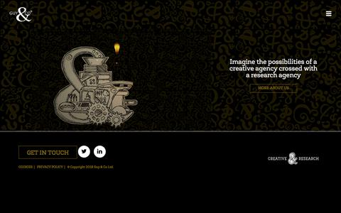 Screenshot of Home Page guyco.co.uk - Guy & Co: Creative Agency in Edinburgh | We make Great - captured April 19, 2018
