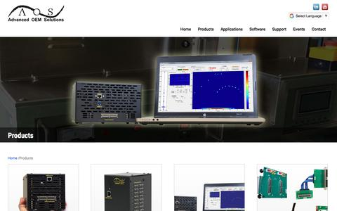 Screenshot of Products Page aos-ndt.com - Products Archive - Advanced OEM Solutions - captured Oct. 7, 2017