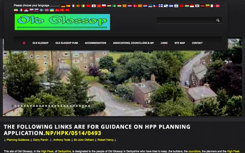 Screenshot of Home Page old-glossop.com - Home of the Old Glossop Official Website - captured Oct. 1, 2014