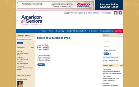 Screenshot of Signup Page site-ym.com - American Seniors Association - captured Nov. 2, 2014