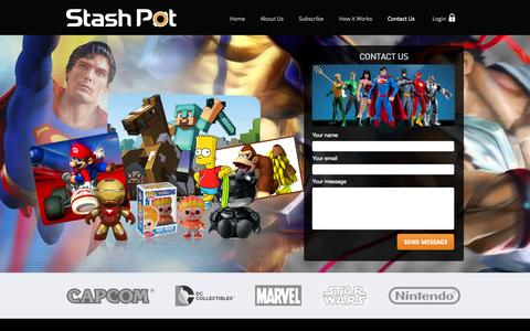 Screenshot of Contact Page stashpot.com - Contact Us |  Stashpot - captured Oct. 1, 2014