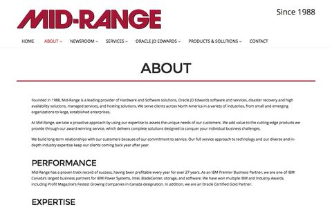Screenshot of About Page midrange.ca - About | Mid-Range - captured Nov. 28, 2016
