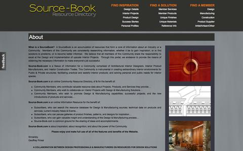 Screenshot of About Page source-book.com - About | Source-Book.com - captured Oct. 9, 2014
