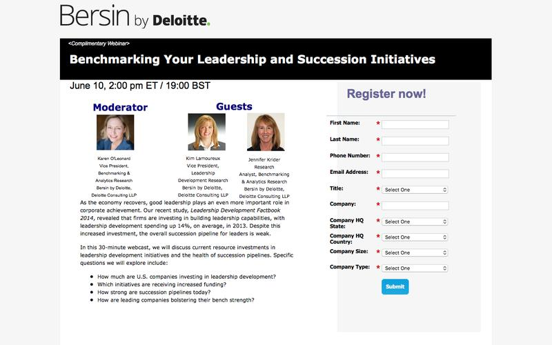 Benchmarking Your Leadership and Succession Initiatives