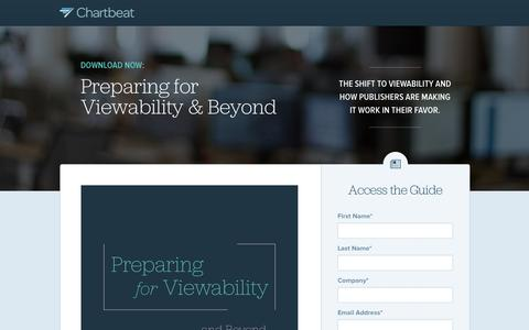 Screenshot of Landing Page chartbeat.com - Preparing for Viewability: A guide to measuring and monetizing viewable impressions. | Chartbeat Advertising - captured May 21, 2016