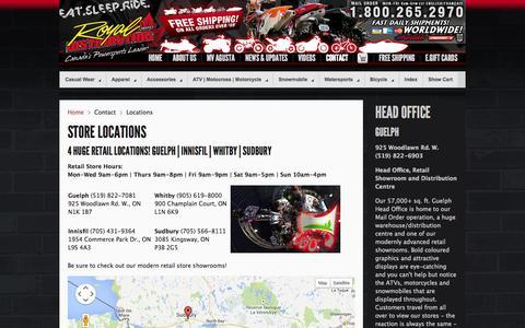 Screenshot of Locations Page royaldistributing.com - Locations - captured Sept. 23, 2014