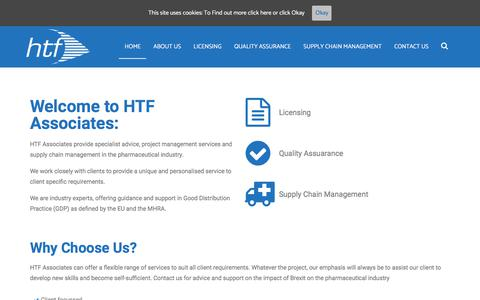 Screenshot of Home Page htfassociates.co.uk - HTF Associates | - captured Sept. 26, 2018