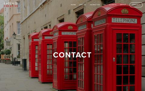 Screenshot of Contact Page catchcreative.co.uk - CONTACT — Catch Creative - captured Oct. 27, 2016