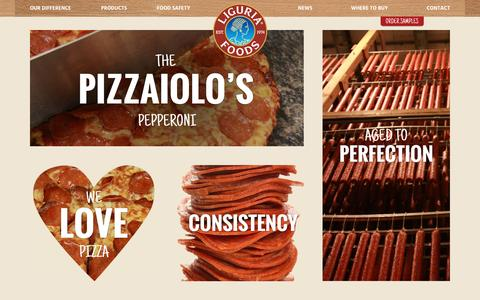 Screenshot of Home Page liguriafoods.com - Home - Liguria Foods - captured Dec. 10, 2015