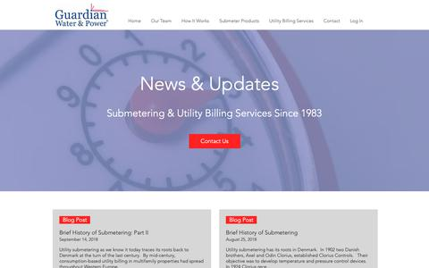 Screenshot of Blog Press Page guardianwp.com - Submetering News & Updates - captured Sept. 30, 2018