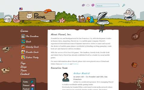 Screenshot of About Page pixowl.com - About Us  | Pixowl – Mobile Games Studio - captured July 19, 2014