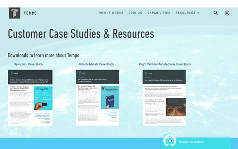 Screenshot of Case Studies Page tempoautomation.com - Case Studies   Tempo - captured Sept. 20, 2018