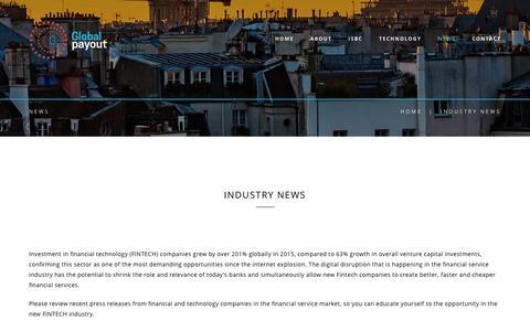 Screenshot of Press Page globalpayout.com - Global Payout - captured Sept. 26, 2016