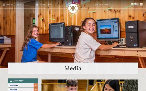 Screenshot of Press Page kampkohut.com - Media - Kamp Kohut - captured Sept. 20, 2018