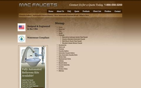 Screenshot of Site Map Page macfaucets.com - Sitemap | Mac Faucets - captured Sept. 30, 2014