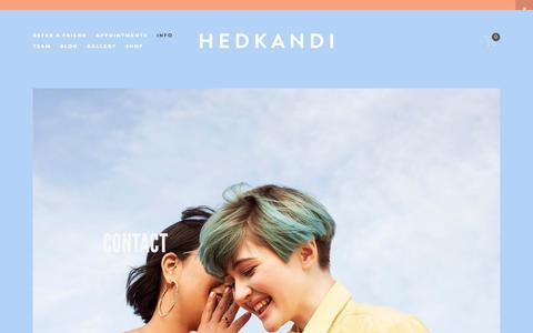 Screenshot of Contact Page hedkandisalon.com - Contact — Hedkandi Salon - captured Sept. 28, 2018