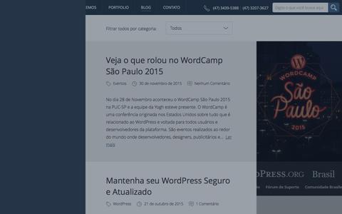 Screenshot of Blog yogh.com.br - Artigos, Dicas e Novidades sobre o mundo Web e os bastidores da ag�ncia | Yogh - Ag�ncia Digital - captured Dec. 21, 2015