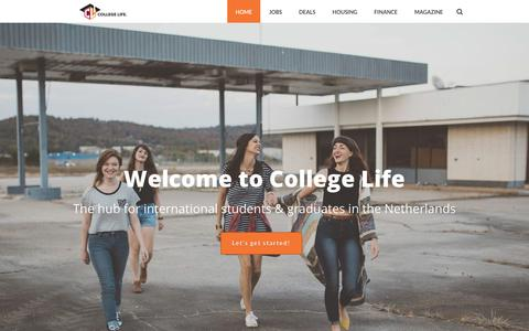 Screenshot of Home Page collegelife.nl - College Life - The Hub for International Students & Graduates - captured June 18, 2018
