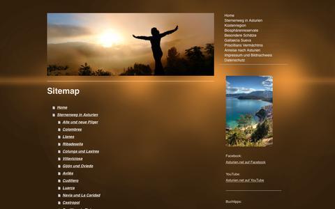 Screenshot of Site Map Page asturien.net - Asturien auf dem Sternenweg in Nordspanien - Asturien.net - captured June 26, 2018