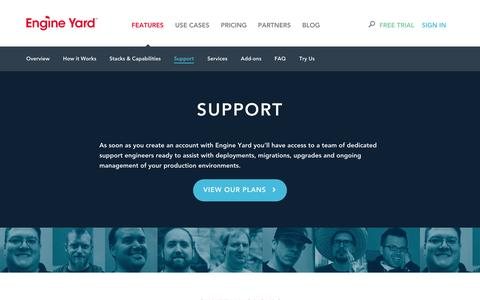 Screenshot of Support Page engineyard.com - Engine Yard | Support Overview - captured Oct. 10, 2014