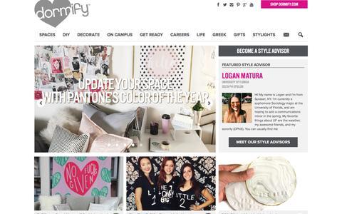 Screenshot of Blog dormify.com - College Fashion + Dorm Decorating Blog | Dorm Living - captured Feb. 4, 2016