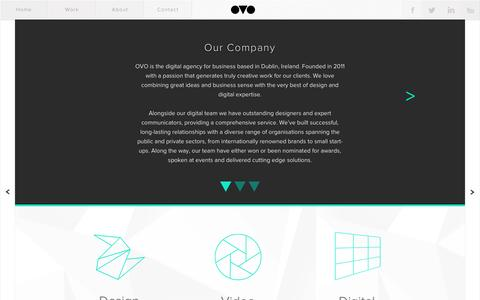 Screenshot of About Page ovo.ie - OVO | About Our Company - captured Dec. 2, 2016