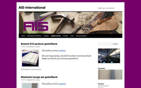 Screenshot of Press Page ais-international.aero - Laatste nieuws | AIS-International | Stofferingen en Zeilmakerij - captured Oct. 4, 2014