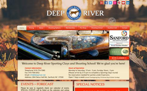Screenshot of Home Page deepriver.net - Deep River Sporting Clays and Shooting School - captured Nov. 13, 2018
