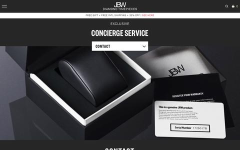 Screenshot of Privacy Page Contact Page Terms Page jbw.com - Concierge-contact – JBW Watches - captured Sept. 23, 2018