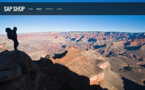 Screenshot of About Page sapshops.com - ABOUT — SAP Shop - captured Oct. 1, 2014