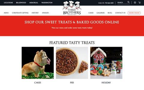 Screenshot of Menu Page 3brothersbakery.com - Shop Online - captured Dec. 4, 2018