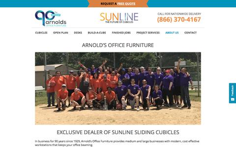 Screenshot of About Page arnoldsofficefurniture.com - About Us - Arnolds Office Furniture - captured Aug. 3, 2019