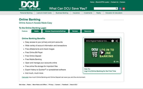 Online Banking | DCU |Massachusetts | New Hampshire