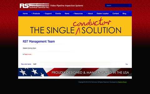 Screenshot of Team Page rstechserv.com - Staff - captured Oct. 7, 2014