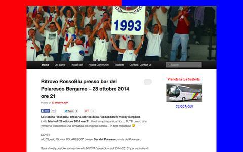 Screenshot of Blog nobiltarossoblu.com - Nobiltà RossoBlu | La tifoseria della Foppapedretti Bergamo - captured Nov. 5, 2014