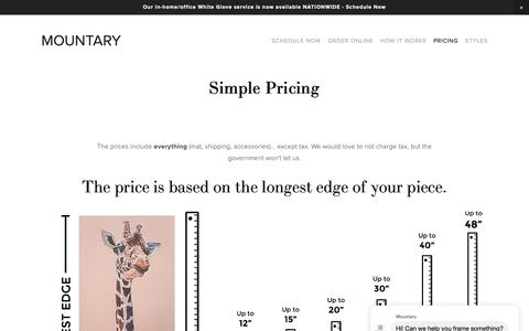 Screenshot of Pricing Page mountary.com - Pricing — MOUNTARY - captured Feb. 16, 2019