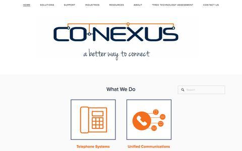 Screenshot of Home Page co-nexus.com - Co-nexus - captured July 19, 2018