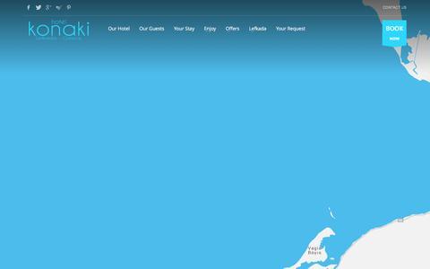 Screenshot of Contact Page hotelkonaki.com - Hotel Konaki - Lefkada | Contact Us - captured Dec. 14, 2015