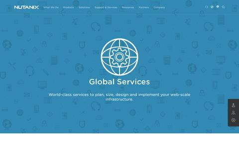 Screenshot of Services Page nutanix.com - Global Services for Hyperconveged Virtualized Deployments - captured June 16, 2015