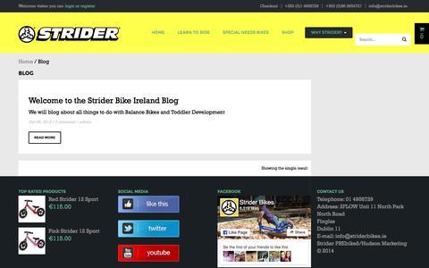 Screenshot of Blog striderbikes.ie - Blog | Strider Bikes - captured Dec. 16, 2016