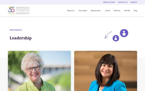 Screenshot of Team Page wfmn.org - Our Leadership, Staff, and People | Women's Foundation of Minnesota - captured Oct. 19, 2018