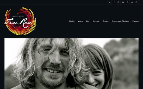 Screenshot of Home Page firerose.nl - Some Kind of Fire Rose - Songwriting duo uit Den Haag - captured Feb. 15, 2016