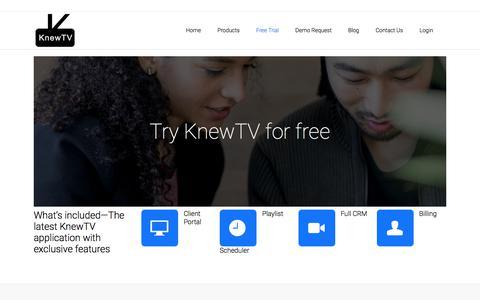 Screenshot of Trial Page knewtv.com - KnewTV |   Free Trial - captured Sept. 20, 2018